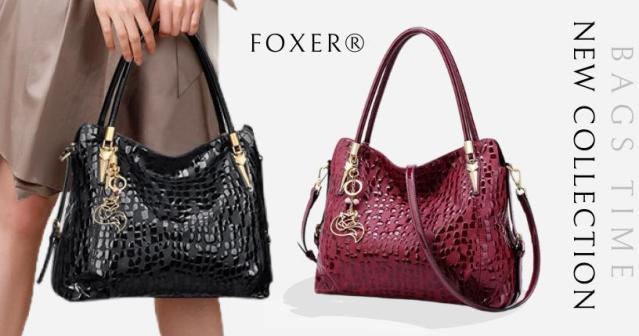 Купити жіночу сумку з натуральної шкіри Foxer, Designer diamonds. Новинка на BAGS TIME!