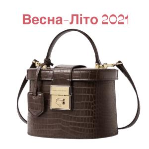 Сумка-відро овальної форми коричнева шкіряна жіноча Скринька Foxer, City Box