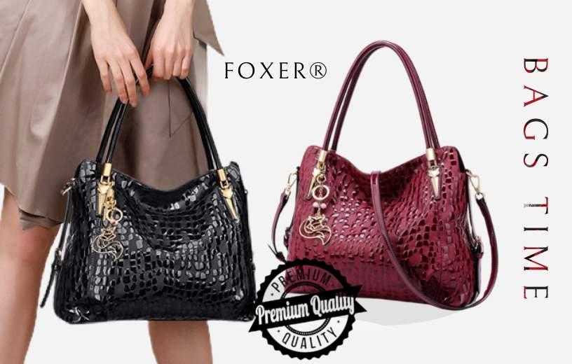 Купити жіночу сумку з натуральної шкіри Foxer, Designer diamonds в інтернет-магазині BAGS TIME!