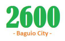 2600 baguio city post code
