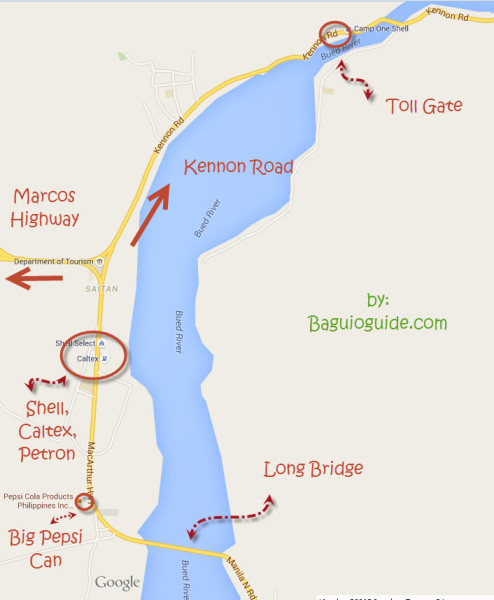kennon road map to baguio