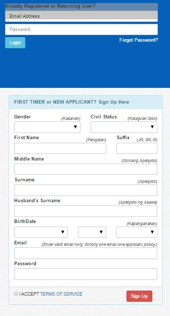 nbi online application form appointment