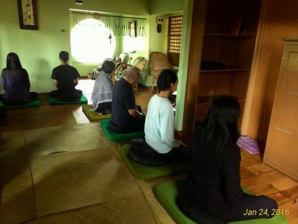 Zazen at the Tea House Zendo