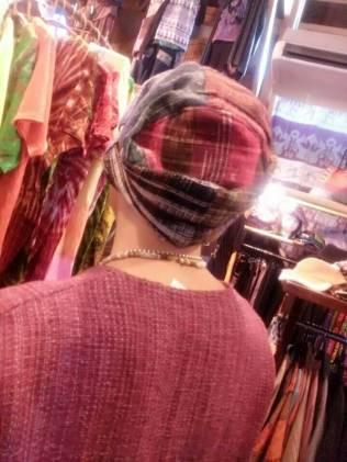 チェンマイコットンのパッチワーク帽子