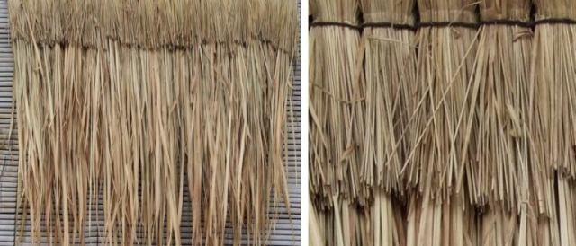 バリ島の屋根の材料【アランアラン】です。1枚1枚重ねて施工。