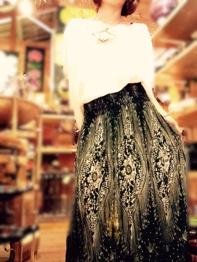 レーヨン2wayスカート