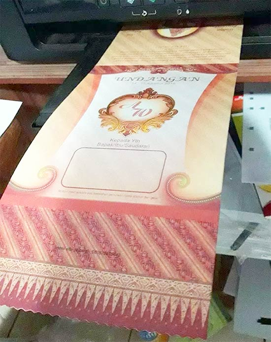 Mencetak Undangan Dengan Printer