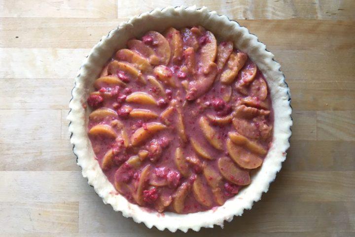 Peach melba tærte - fyld