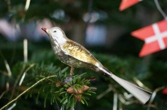 Glasfugl på mit juletræ.