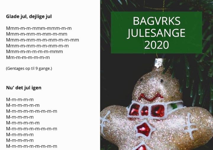 Bagvrks Julesange 2020 Coronasangbog