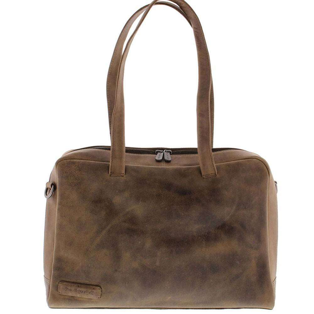 3a0b42761df Laptoptas Dames | Plevier Dames Business Laptoptas Met Klep 15 6 Bruin