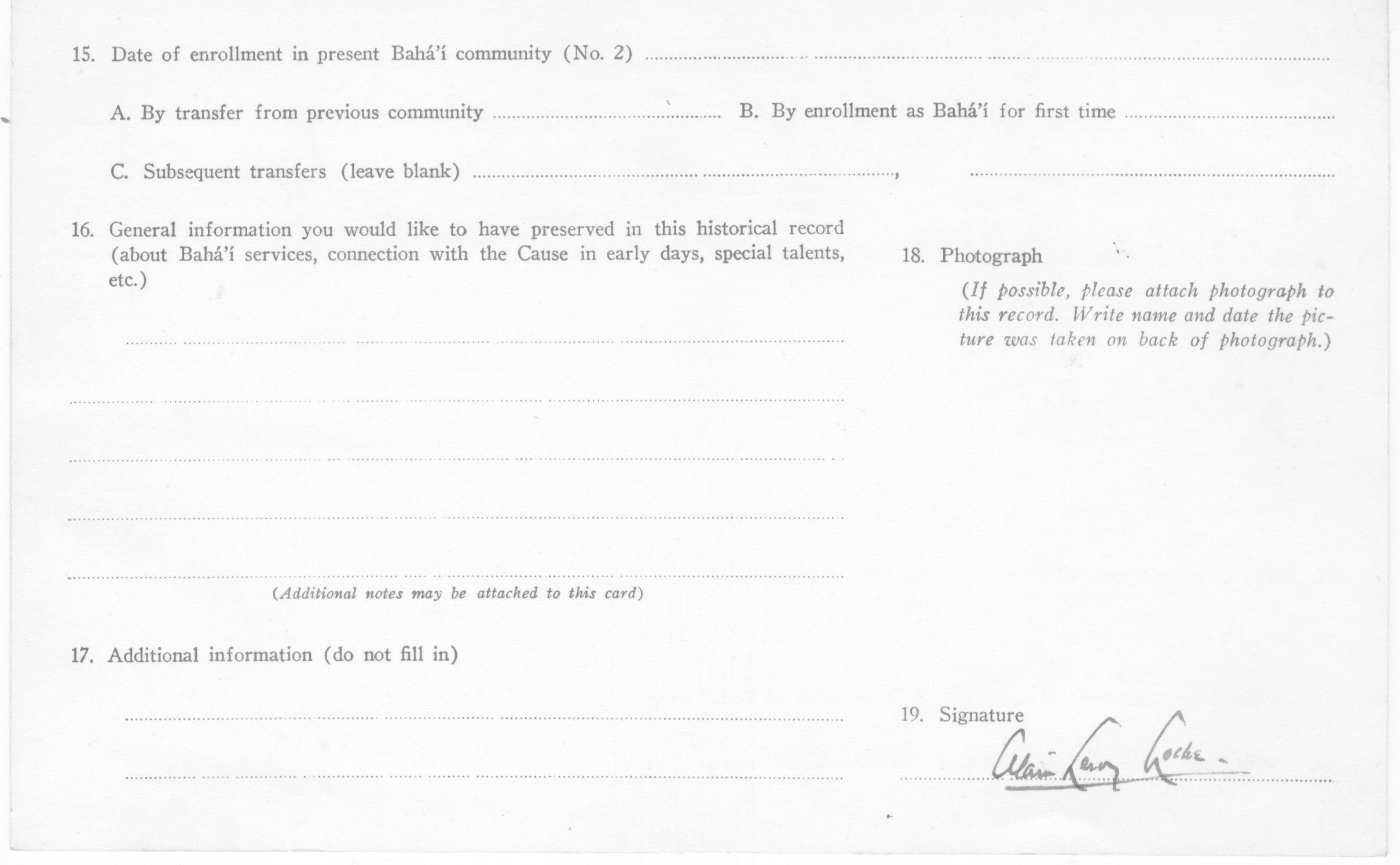 Letters to Alain Locke