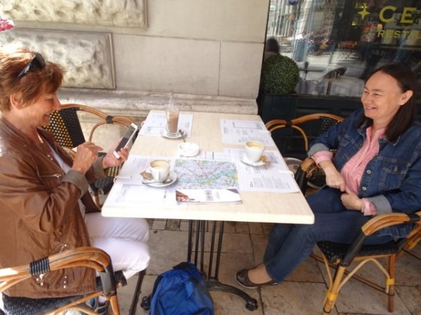 Im Cafe mit Judit