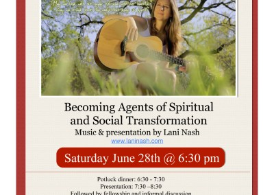 Becoming Agents of Spiritual and Social Transformation