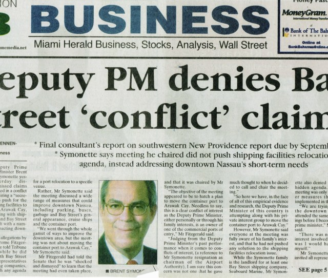 Port Relocation Conflict Of Interest Newspaper Article