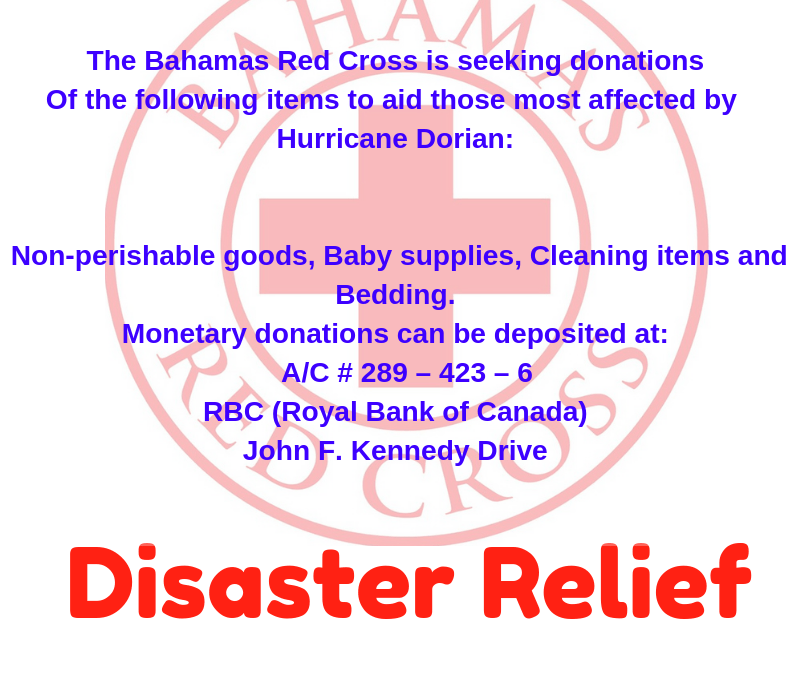 BAHAMAS RED CROSS SOCIETY: HURRICANE DORIAN ASSISTANCE #HelpusHelp