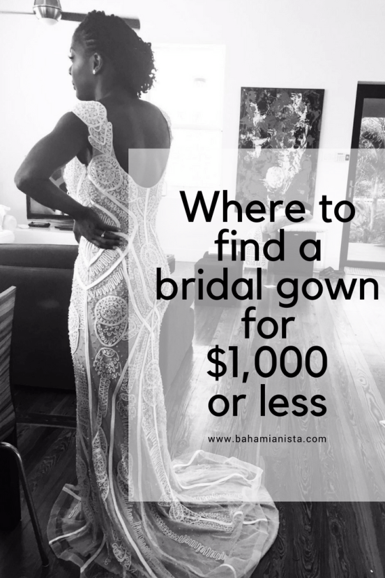 where to find a bridal gown for $1,000 or less