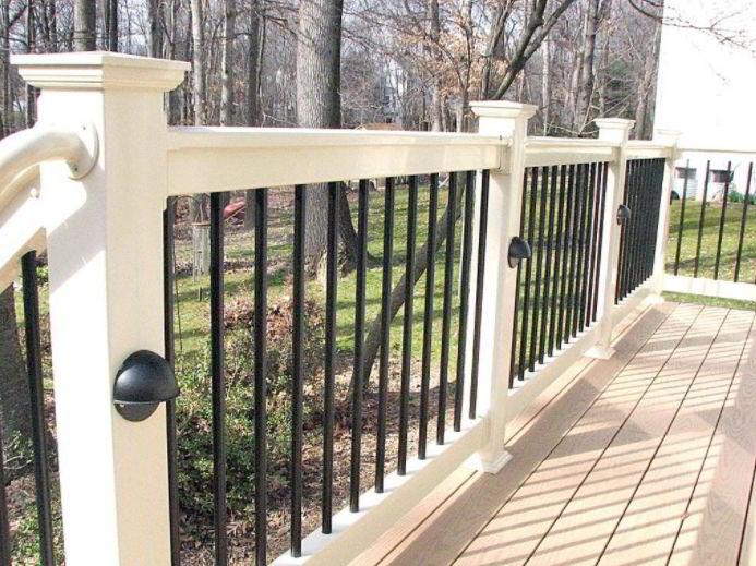 Monochrome Deck Railing Ideas