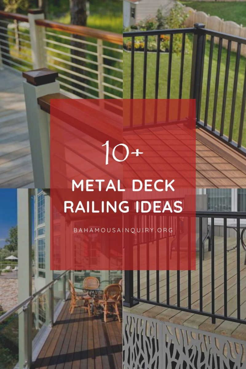 Best metal deck railing ideas