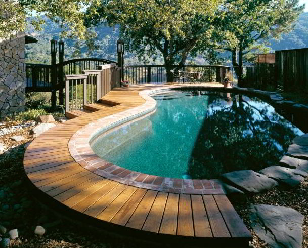 Outstanding Pool Deck Picture