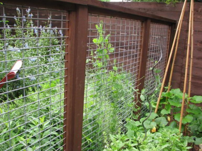 Fencing for Industrial Themed Garden