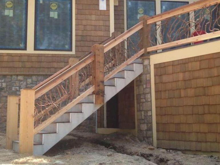 Rustic Deck Stair Concept
