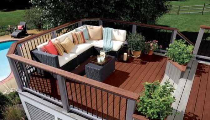 Deck with Pool Side Ideas