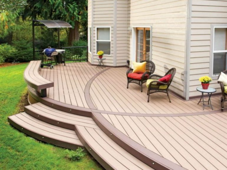 Curved Wood Deck Design