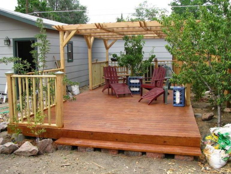 Mini floating deck ideas