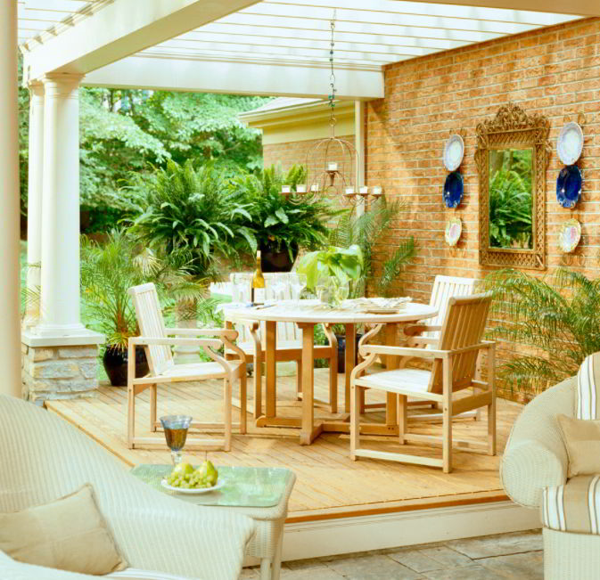 Wall decor for deck furniture