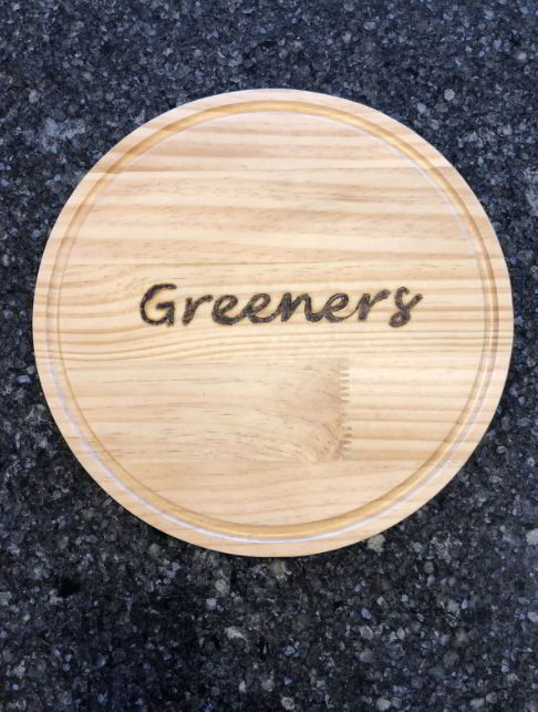 Round Cutting Board with Pyrography