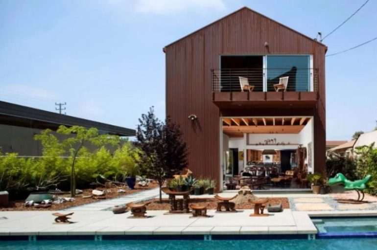 Metal Building with Pool