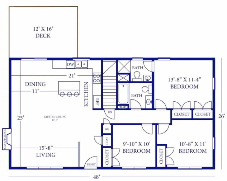 Barndominium with 3 Bedrooms and A Deck