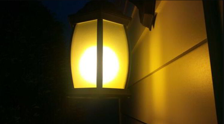 blinking porch light meaning