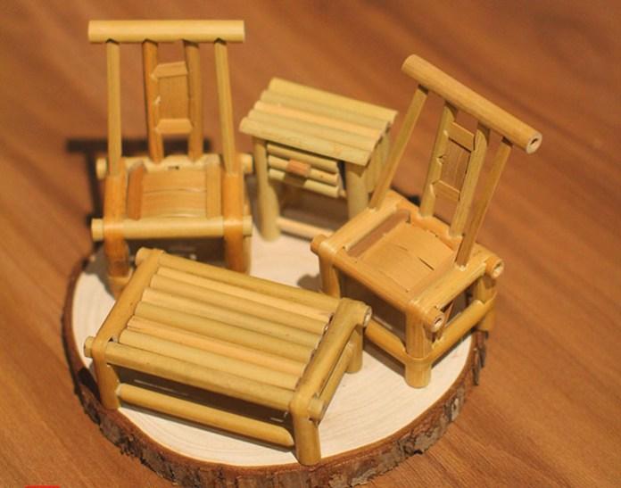 miniatur craft bambu