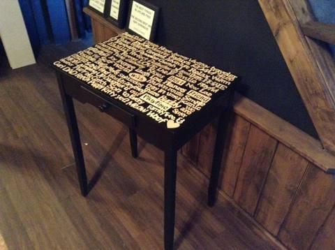 decoupage pada furniture natural 1