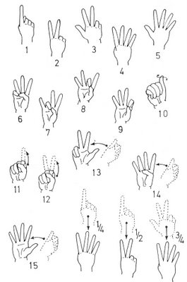 Number sign language