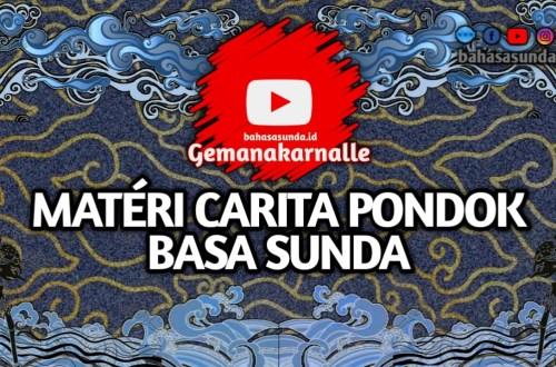 MATERI CARITA PONDOK KELAS 8