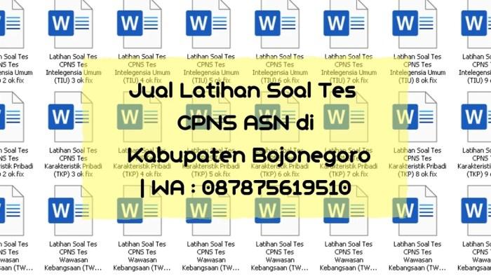 Soal Tes CPNS ASN di Kabupaten Bojonegoro