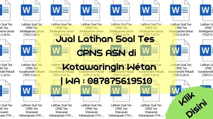 Soal Tes CPNS ASN di Kotawaringin Wetan