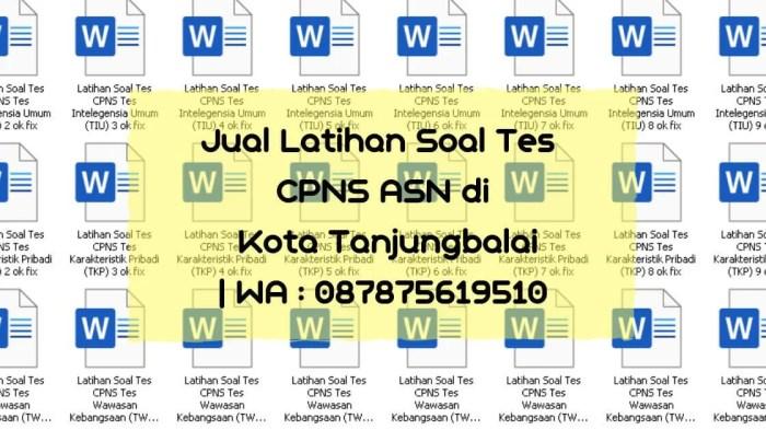 Soal Tes CPNS ASN di Tanjungbalai
