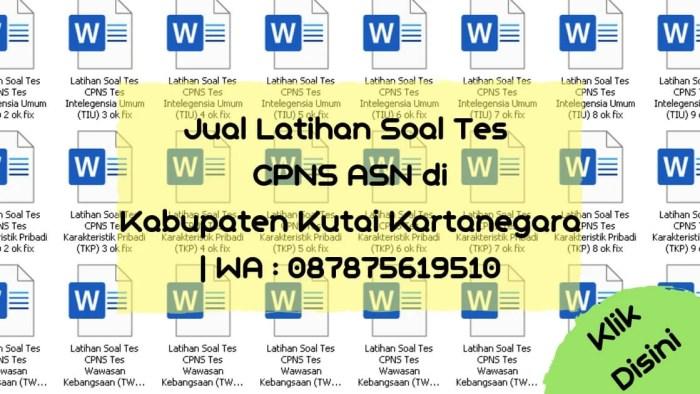 Soal Tes CPNS ASN di Kabupaten Kutai Kartanegara