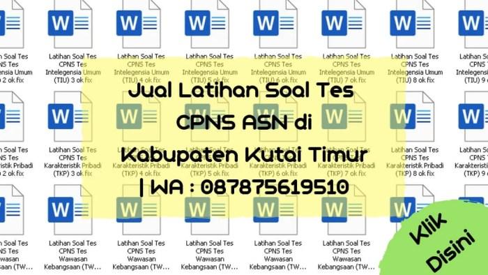 Soal Tes CPNS ASN di Kabupaten Kutai Timur