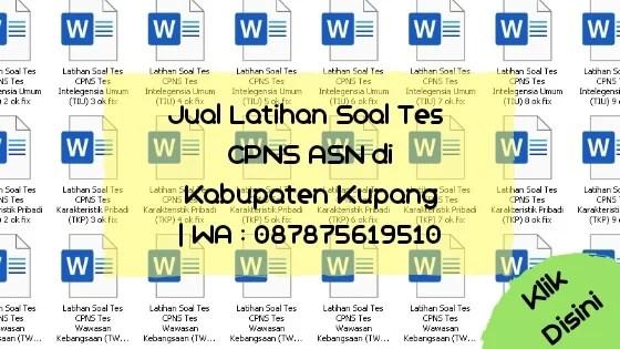 Soal Tes CPNS ASN di Kabupaten Kupang
