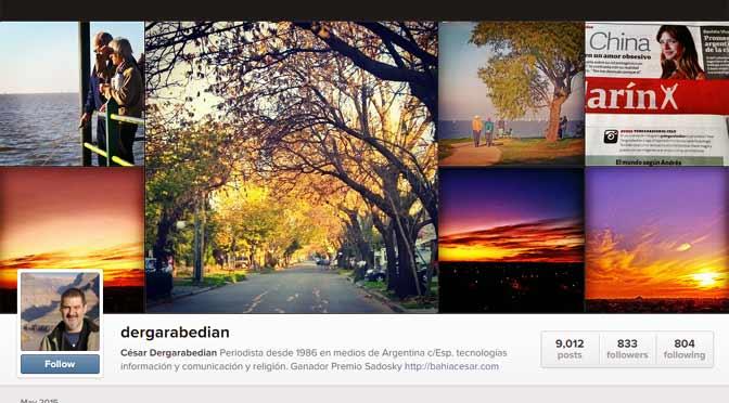 Mis nubes en Instagram, recomendadas por la revista Viva de Clarín
