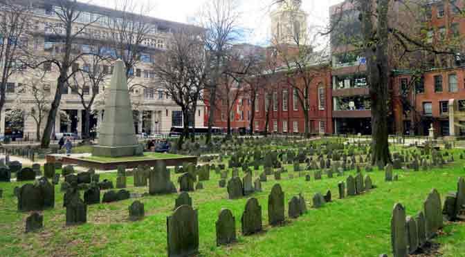 Granary Burying Ground, un cementerio en el centro de Boston