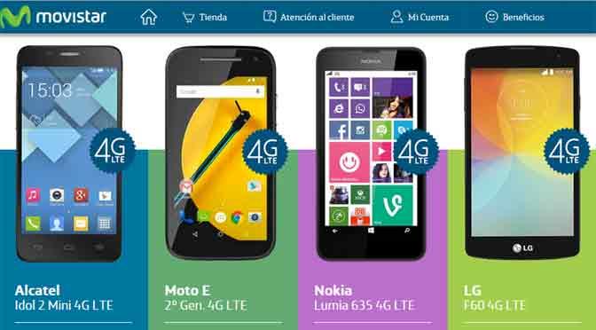 Movistar lanza una promoción de dos por uno en equipos con 4G
