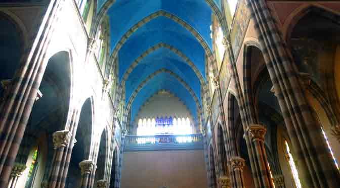 El interior de la Iglesia de los Capuchinos en Córdoba