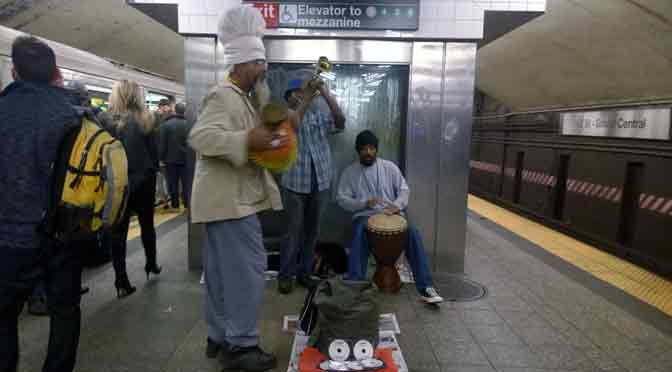 Fusión musical en el metro de New York