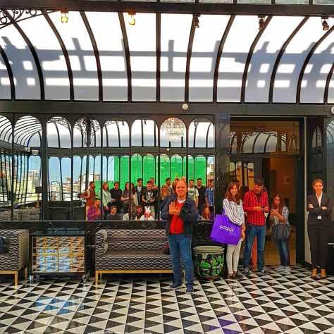 Instagrammers en el Alvear Palace Hotel.